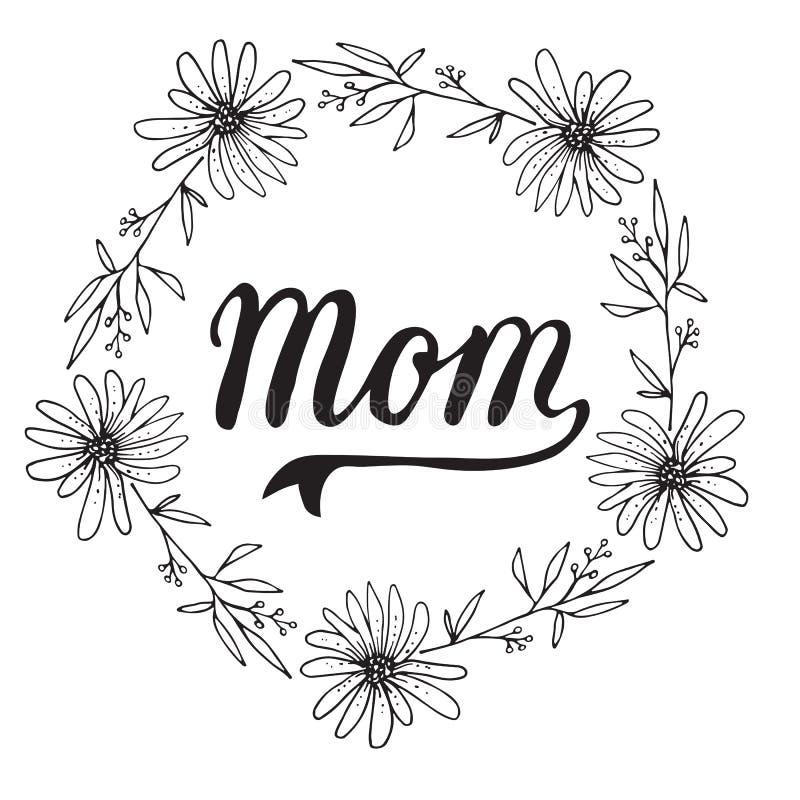 Wektorowa kartka z pozdrowieniami Dla prezent etykietki wystroju mama ilustracji
