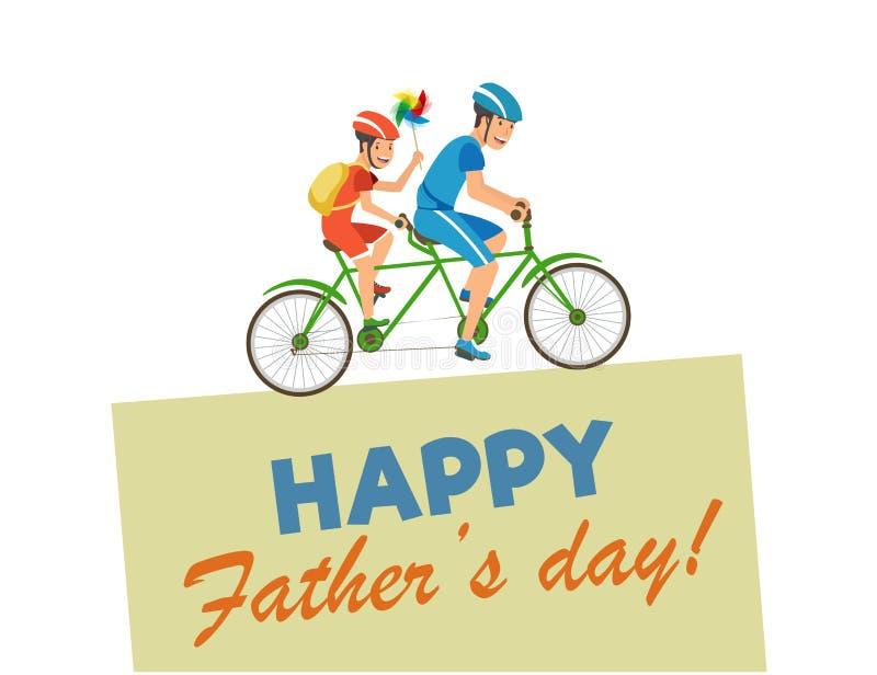 Wektorowa kartka z pozdrowieniami Pisać Szczęśliwy ojca dzień ilustracji