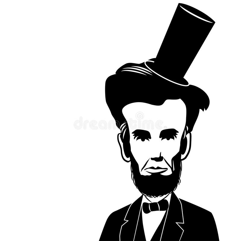 Wektorowa karykatury ilustracja U S abraham prezydent Lincoln ilustracja wektor