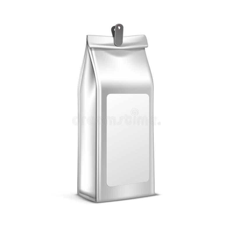 Wektorowa Kawowa Herbaciana Pakuje pakunek torba Odizolowywająca ilustracja wektor