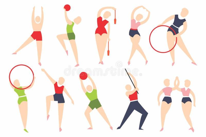 Wektorowa kolekcja atlety - uczestnicy olimpiady ilustracja wektor
