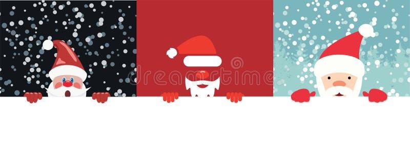 Wektorowa kolekcja boże narodzenie ilustracje Santa Claus ilustracja wektor