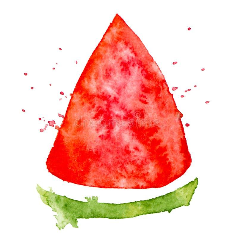 Wektorowa kolor farby arbuza tekstura odizolowywająca na bielu ilustracji