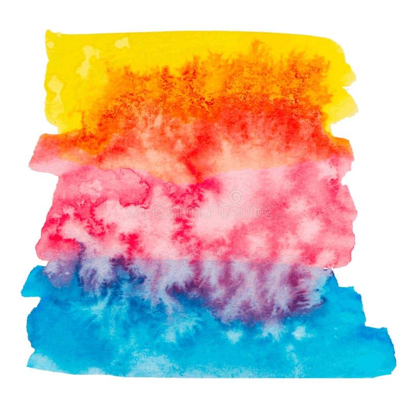 Wektorowa kolor farby tekstura odizolowywająca royalty ilustracja
