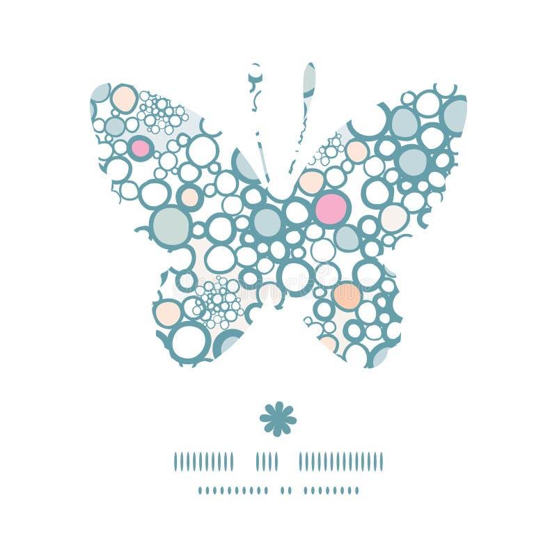 Wektorowa kolorowa bąbla motyla sylwetka royalty ilustracja