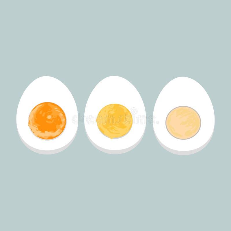 Wektorowa kolorowa ilustracja gotowani jajka ilustracji