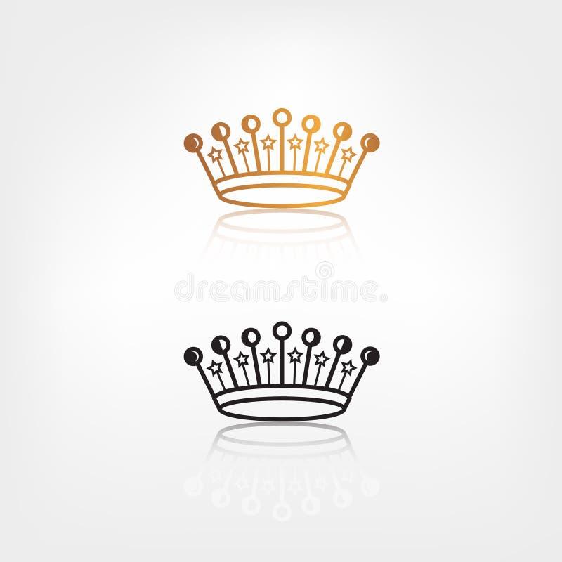 Wektorowa korony ikona ilustracji