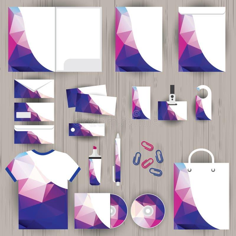 Wektorowa korporacyjna tożsamość, trójboka wzoru projekt, geometryczny royalty ilustracja