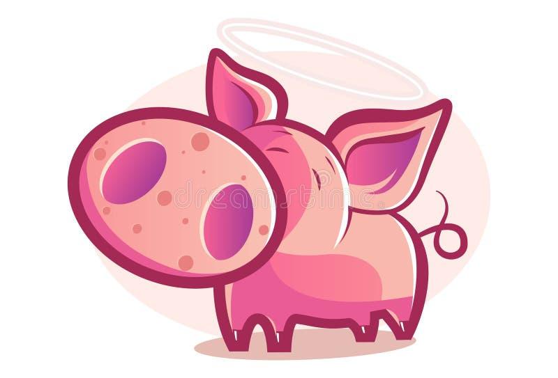 Wektorowa kreskówki ilustracja świnia ilustracji