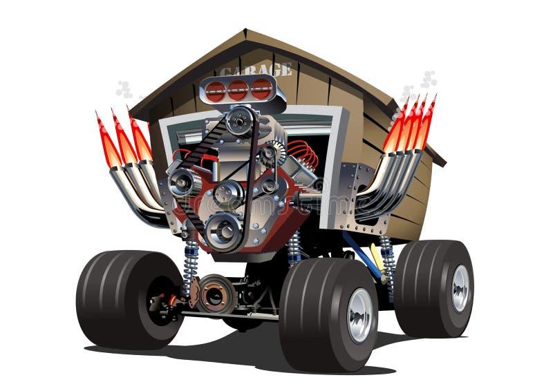 Wektorowa kreskówka garażu ciężarówka royalty ilustracja