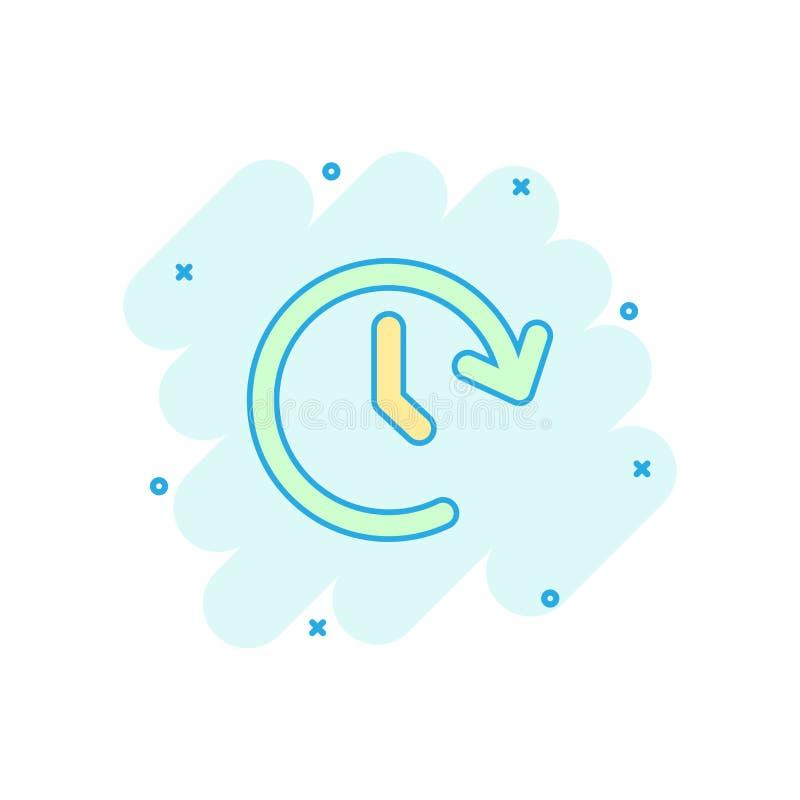 Wektorowa kreskówka zegarowego czasu ikona w komiczka stylu Zegar 24 godziny si ilustracja wektor
