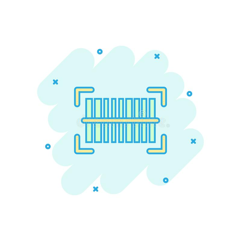 Wektorowa kreskówki barcode produktu dystrybuci ikona w komiczka stylu ilustracja wektor