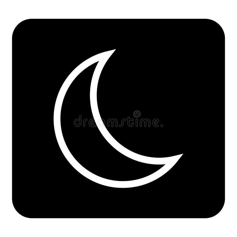 Wektorowa księżyc ikona Sen ikona Wektorowa biała ilustracja na czerni ilustracja wektor