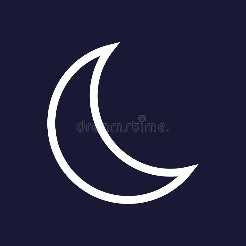 Wektorowa księżyc ikona Sen ikona ilustracja wektor