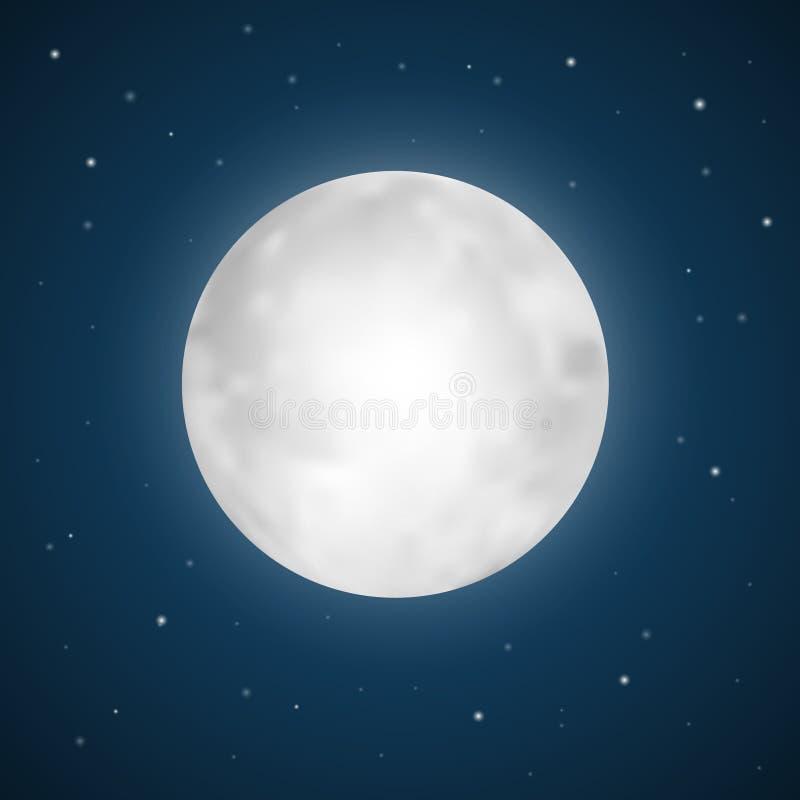 Wektorowa księżyc w pełni ilustracja ilustracji