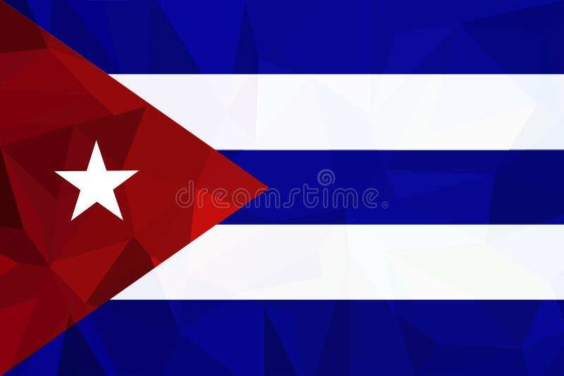Wektorowa Kuba flaga, Kuba chorągwiana ilustracja, Kuba flagi obrazek, Kuba chorągwiany wizerunek, ilustracja wektor