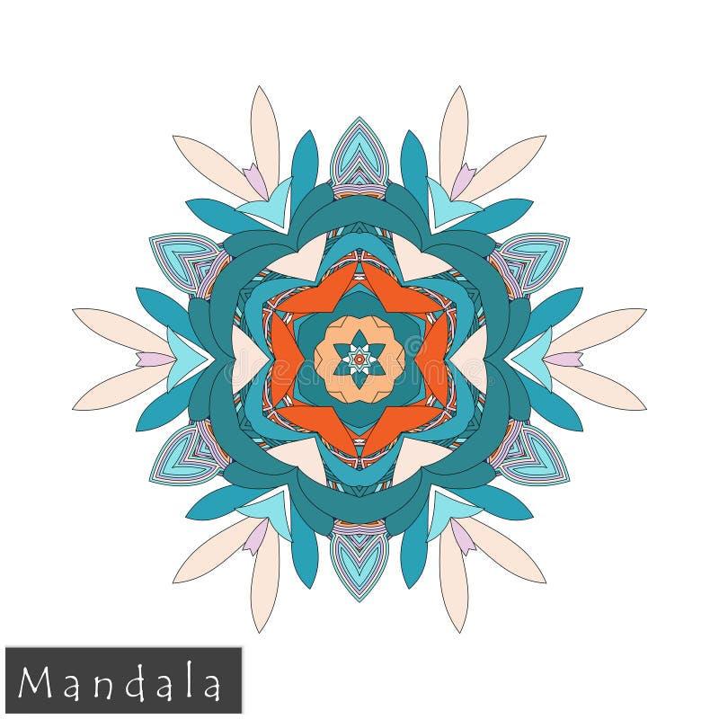 Wektorowa kwiatu mandala ikona odizolowywająca na bielu fotografia royalty free