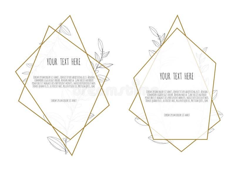 Wektorowa kwiecistego projekta karta Powitanie, pocztówkowy ślub zaprasza szablon Elegancka rama z różanym i anemonowym ilustracja wektor
