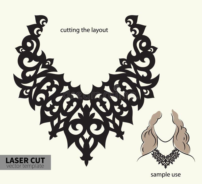 Wektorowa laserowa tnąca kolia ilustracja wektor