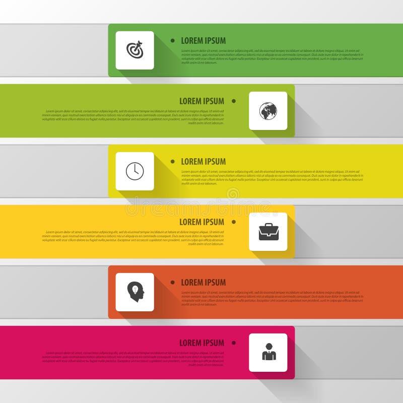 Wektorowa linia czasu Infographic Nowożytny prosty projekt royalty ilustracja