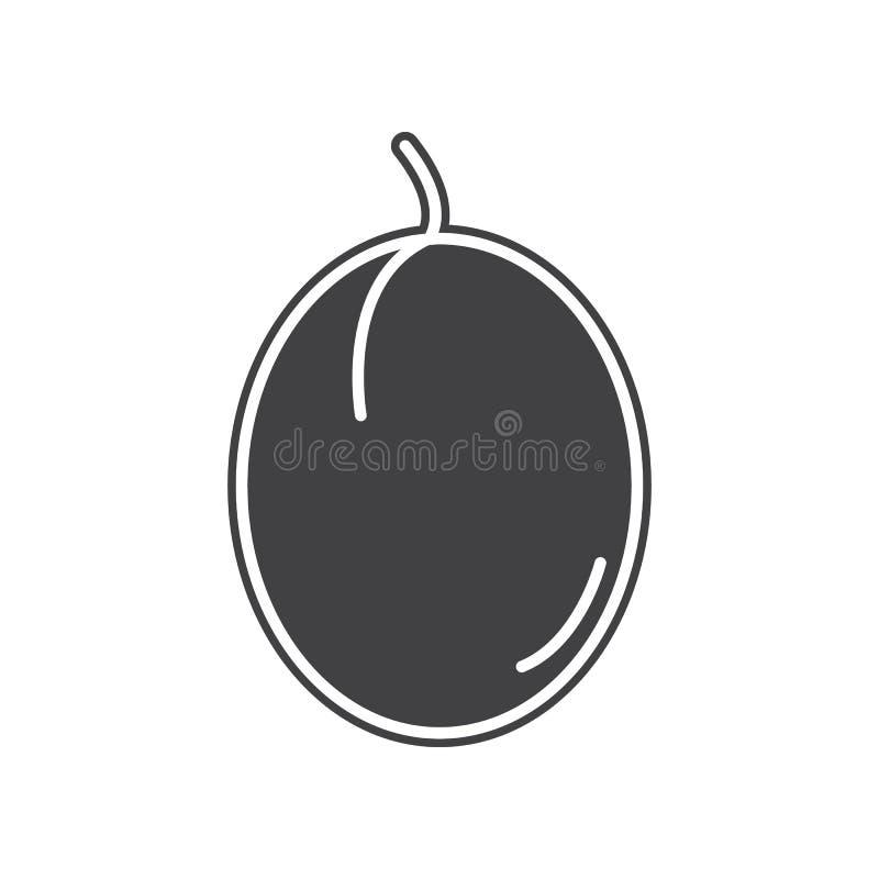 Wektorowa ?liwkowa ikona Element owoc i vegatables dla mobilnego poj?cia i sieci apps ikony Glif, p?aska ikona dla strona interne ilustracji