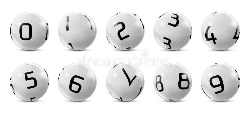 Wektorowa loteryjka, bingo popielate piłki z liczbami royalty ilustracja