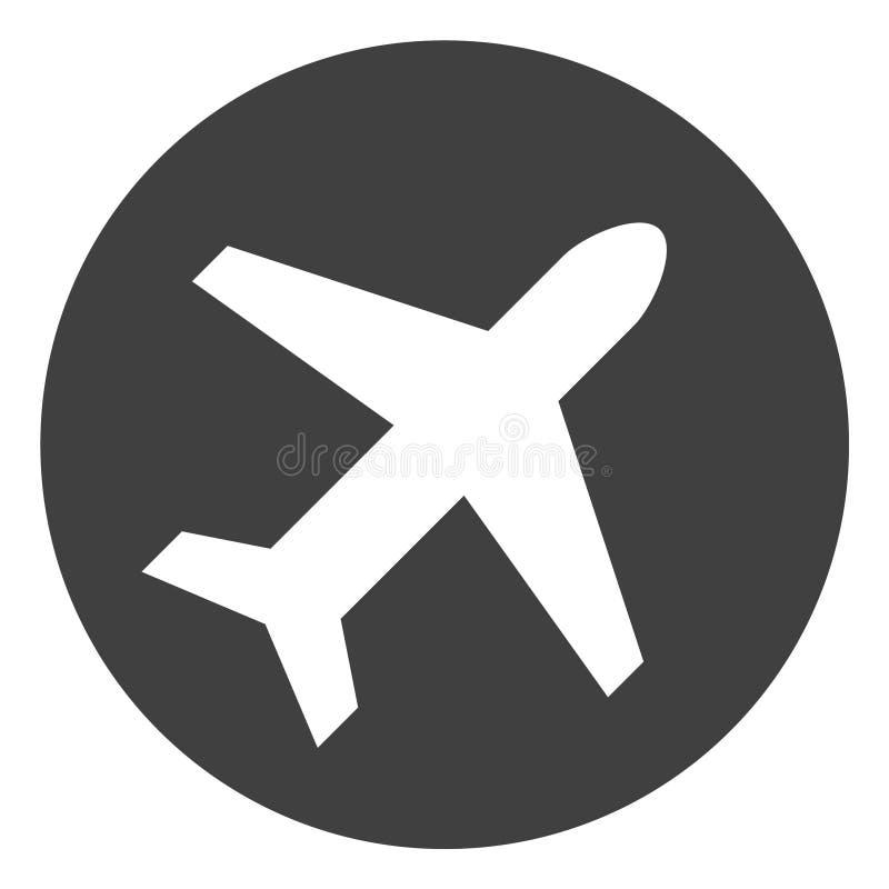 Wektorowa lotniskowa ikona ilustracja wektor