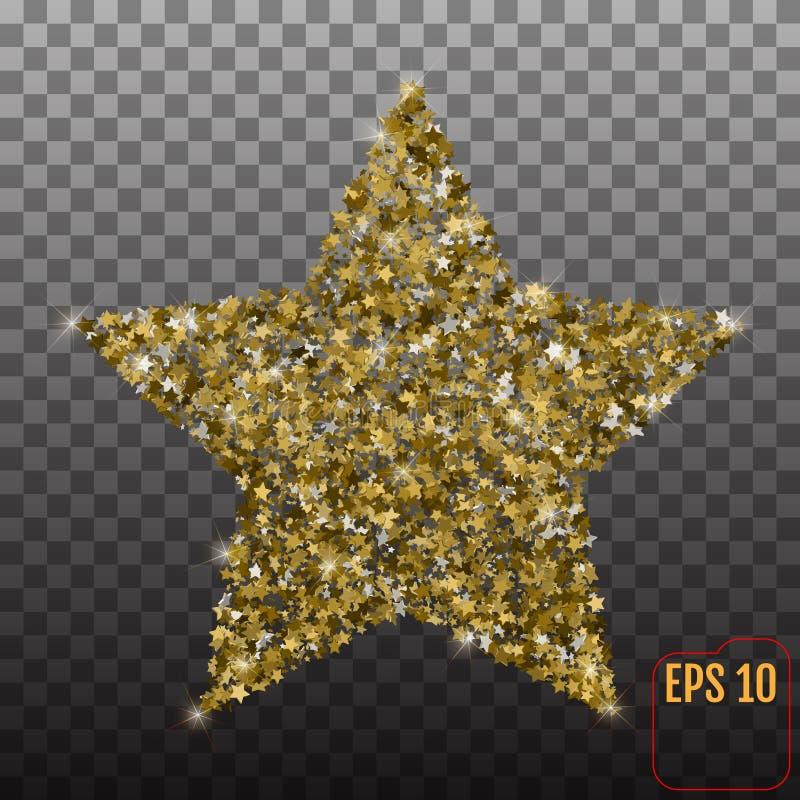 Wektorowa luksusowa złoto gwiazda Element dla reklamowego plakata royalty ilustracja