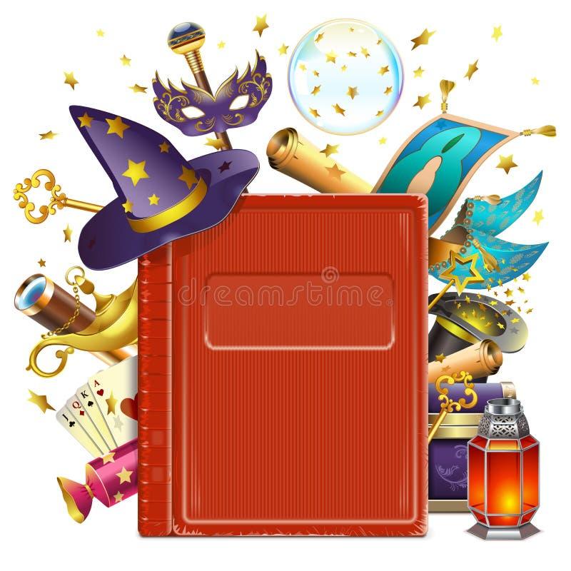 Wektorowa magii książka royalty ilustracja