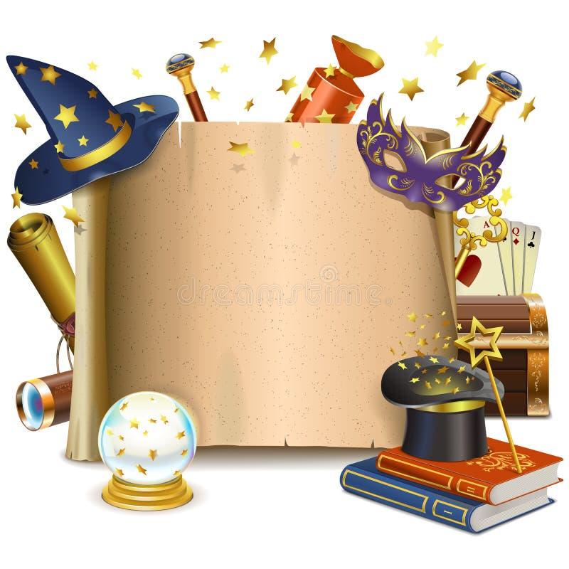 Wektorowa magii rama ilustracji