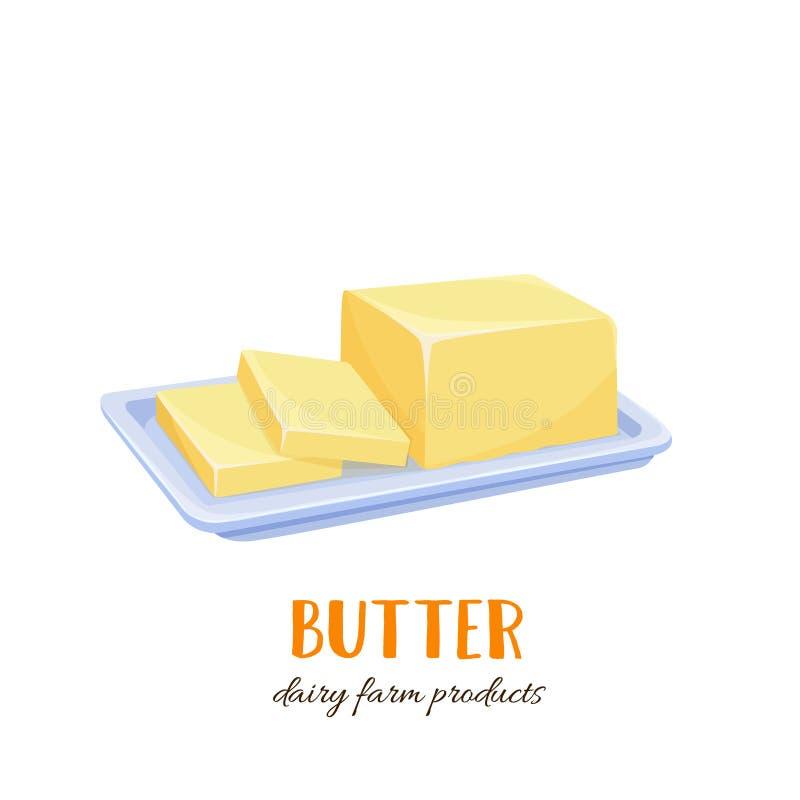 Wektorowa masło ikona ilustracja wektor