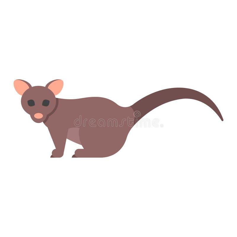 Wektorowa mieszkanie stylu ilustracja brushtail possum ilustracji