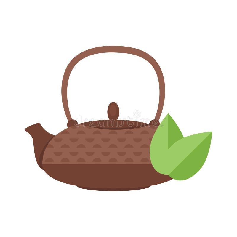Wektorowa mieszkanie stylu ilustracja herbaciany garnek royalty ilustracja