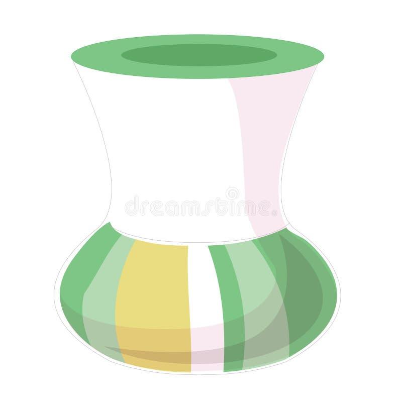 Wektorowa mieszkanie stylu ilustracja waza Ikona dla sieci lub żadny projektujemy pojedynczy białe tło ilustracja wektor