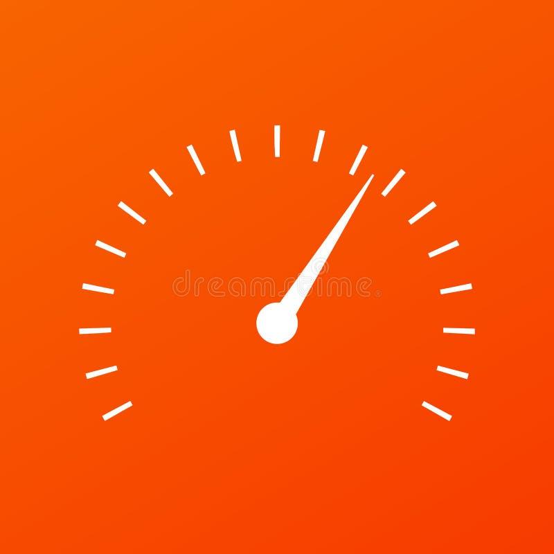 Wektorowa minimalna ilustracja szybkościomierzy wymierniki ilustracji