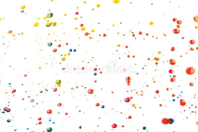 Wektorowa Multicoloured farba Splats i krople ilustracji