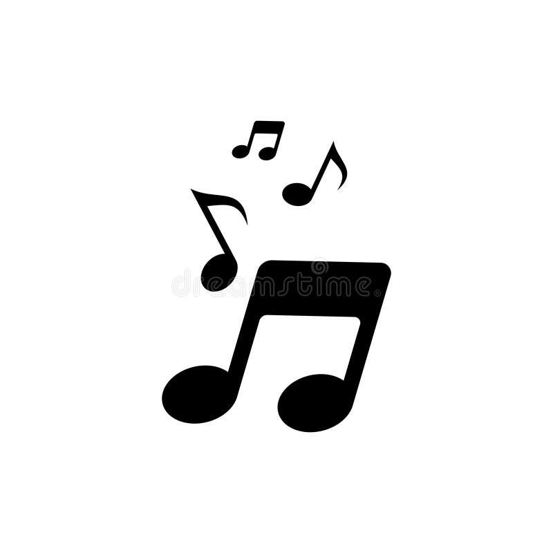 Wektorowa muzyki notatki ikona 5 royalty ilustracja