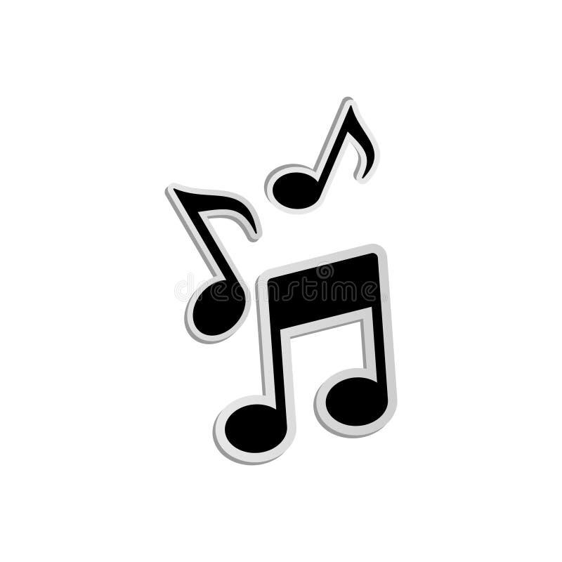 Wektorowa muzyki notatki ikona 6 ilustracji