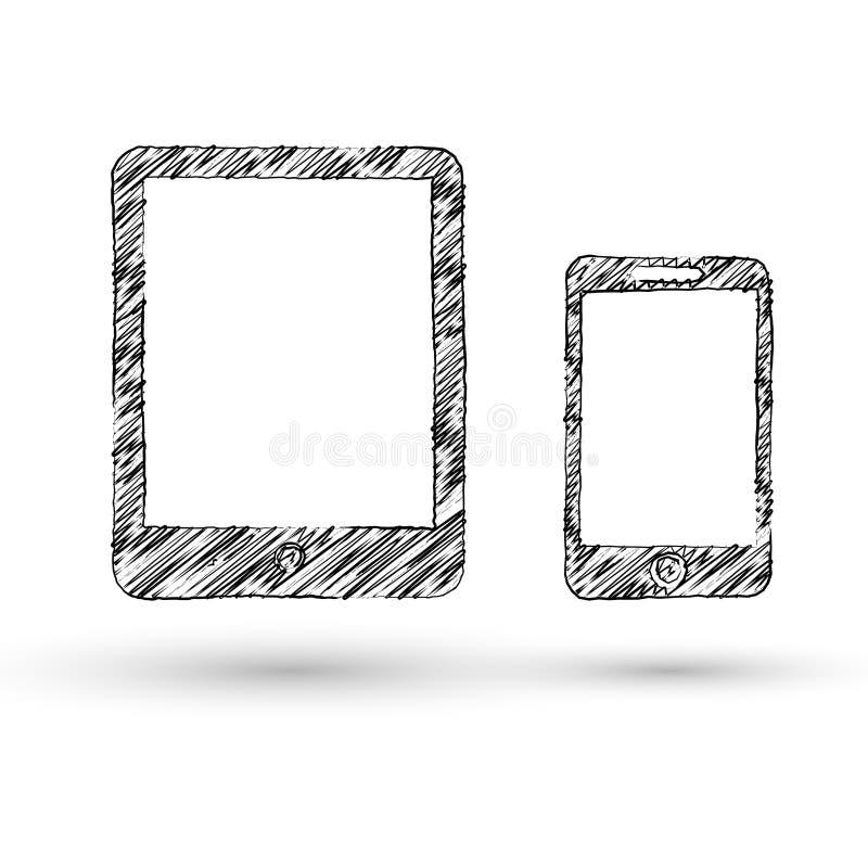 Wektorowa nakreślenie stylu ikona royalty ilustracja