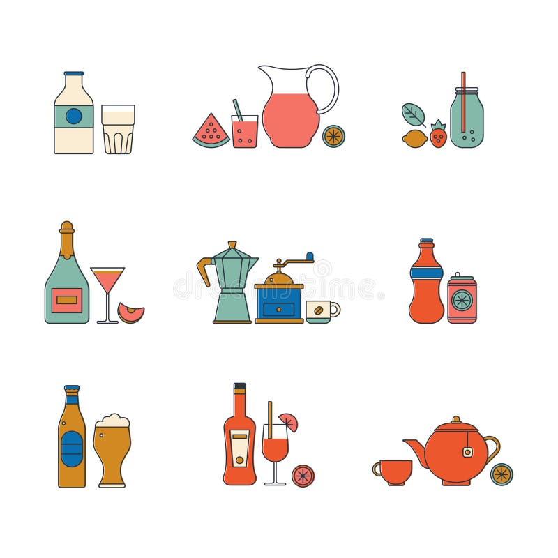 Wektorowa napój ikona ilustracja wektor