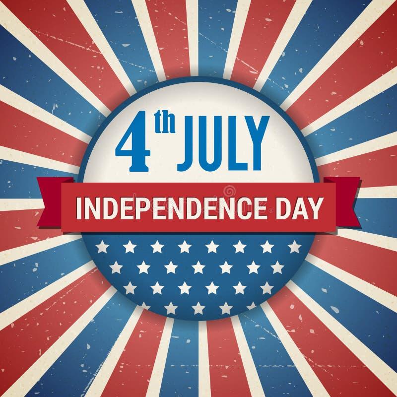 Wektorowa niezależność 4th Lipa dnia amerykański plakat ilustracji