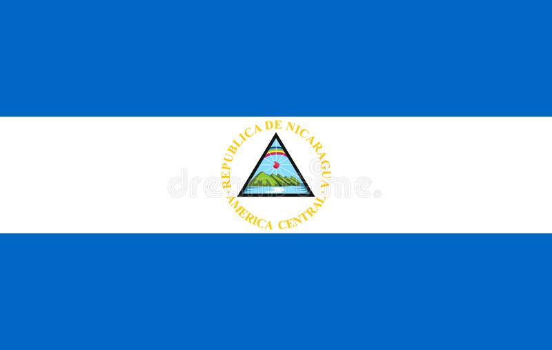 Wektorowa Nikaragua flaga royalty ilustracja