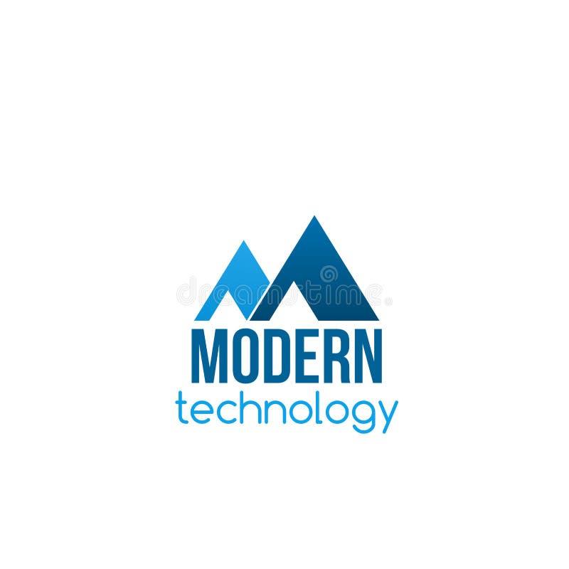 Wektorowa odznaka dla nowożytnego technologia biznesu ilustracji
