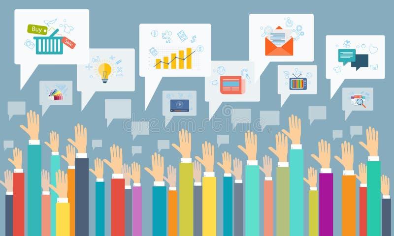 Wektorowa ogólnospołeczna komunikacja biznesowa royalty ilustracja