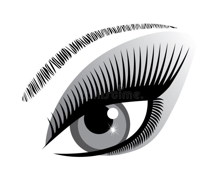 Wektorowa oko ikona ilustracja wektor