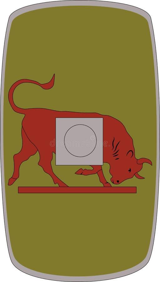 Wektorowa osłona Legio X Gemina na białym tle ilustracji