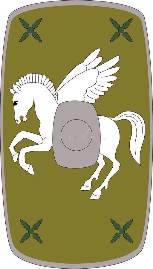 Wektorowa osłona Legio Ja Adiutrix na białym tle ilustracja wektor