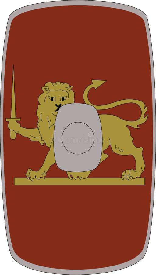 Wektorowa osłona Legio Ja Germanica na białym tle royalty ilustracja