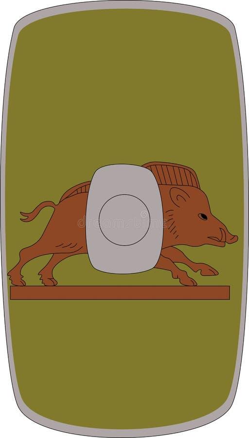 Wektorowa osłona Legio Ja Italica na białym tle ilustracji