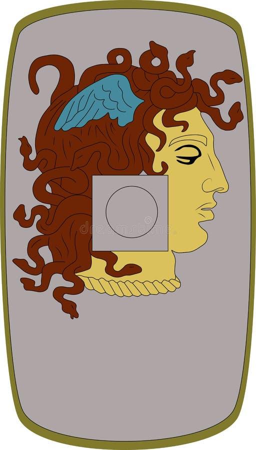 Wektorowa osłona Legio Ja Minervia na białym tle ilustracji